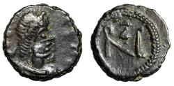 "Ancient Coins - Zeno AE10 ""Monogram of Emperor"" Thessalonica or Nicomedia Good VF Rare"