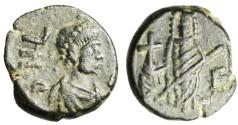 "Ancient Coins - CHOICE EF Leo I AE4 ""Wife Verina Facing"" RIC 714 Scarce"