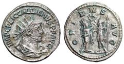 "Ancient Coins - Gallienus AR Antoninianus ""ORIENS AVG Emperor & Sol"" Samosata Choice EF"