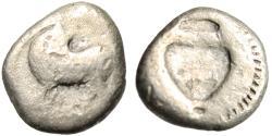 """Ancient Coins - Lucania, Sybaris Silver 1/6 Nomos (Diobol) """"Bull & Incuse Amphora"""" Rare"""