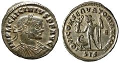"Ancient Coins - Licinius I AE Follis 313 AD ""IOVI CONSERVATORI AVGG NN Jupiter"" Siscia RIC 233a"