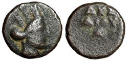 "Ancient Coins - Parthian Kingdom: Pseudo-Autonomous Chalkous ""Year 224, October 31"" Scarce"
