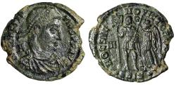 """Ancient Coins - Constantius II Centenionalis """"HOC SIGNO VICTOR ERIS"""" Siscia RIC 311 Scarce gVF"""