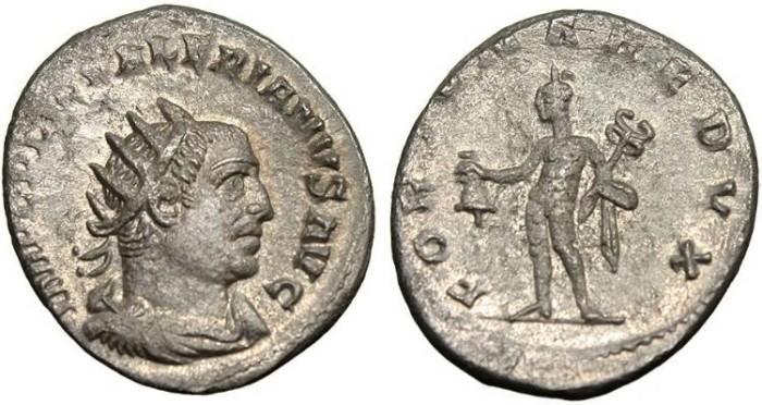 """Ancient Coins - Valerian, AR Antoninianus """"Mercury"""" Viminacium RIC 214 Scarce EF"""