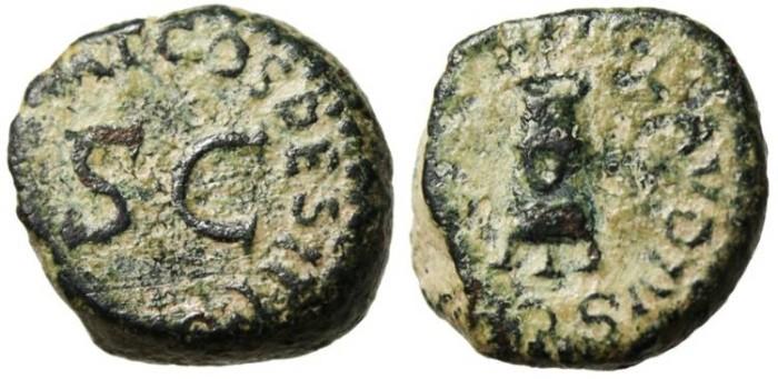 """Ancient Coins - Claudius I Quadrans HEAVY 5.21g Flan! """"Modius & Senatus Consulto SC"""""""