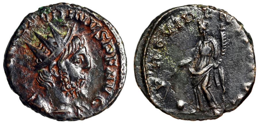"Ancient Coins - Victorinus Billon Antonininanus ""Providentia, Wand Over Globe"" RIC 61 Good VF"
