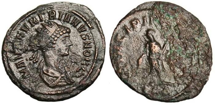 "Ancient Coins - Numerian as Caesar, AE Ant. ""PRINCIPI IVVENTVT"" Rome RIC 361"