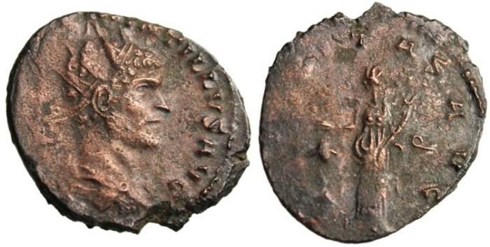 """Ancient Coins - Quintillus AE Ant. """"Uberitas"""" Siscia RIC 78 VF Ancient Roman Coin"""