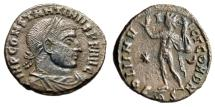 "Ancient Coins - Constantine I The Great AE3 ""SOLI INVICTO COM DN Sol, Victory"" Rome RIC 49 Rare"