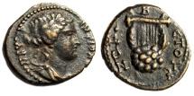 "Ancient Coins - Syria, Antioch Pseudo-Autonomous ""Apollo & Kithara (Lyre)"" Year 177 EF Rare"