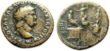 """Ancient Coins - Nero Sestertius """"CONG I DAT POP SC Congiarium to Citizen"""" Lugdunum RIC 502 Rare"""