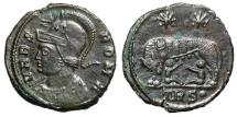 "Ancient Coins - Rome City Commemorative ""Romulus & Remus Suckling From Wolf"" Trier RIC 529 EF"