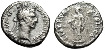 "Ancient Coins - Nerva Silver Denarius ""LIBERTAS PVBLICA Liberty, Cap of Free Slaves"" 97 AD"