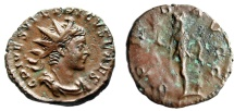 """Ancient Coins - Tetricus II AE Antoninianus """"SPES AVGG Spes, Flower"""" Mainz or Trier 273-274 AD"""