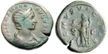 """Ancient Coins - Julia Mamaea Sestertius """"VENVS VICTRIX Venus Standing, Helmet"""" Rome RIC 705 aVF"""