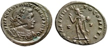 Constantine I The Great AE Follis With Interesting 7 Pellet Beaded Chain Stamp EF