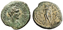 "Ancient Coins - Macrinus AE28 ""Apollo With Branch & Quiver"" Cilicia, Tarsos BMC 204 Rare nVF"