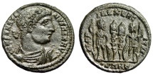 """Ancient Coins - Constantine I The Great AE18 """"GLORIA EXERCITVS Soldiers"""" Heraclea RIC 116 EF"""