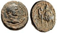 "Ancient Coins - Caracalla AE27 ""Men Standing By Horse"" Syria Loadicea ad Libanum VF Rare"
