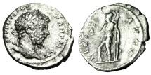 "Ancient Coins - Septimius Severus Silver Denarius ""VIRT AVGG Virtus"" 200-201 AD RIC 171a aVF"