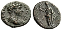 "Ancient Coins - Marcus Aurelius as Caesar AE As ""Salus Feeding Snake"" RIC 1319 Scarce EF"