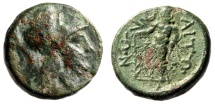 "Ancient Coins - Aitolia, Aitolian League AE17 ""Athena & Herakles Standing"" 250-150 BC"