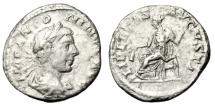 "Ancient Coins - Elagabalus Silver Denarius ""LIBERTAS AVGVSTI Libertas, Pileus"" RIC 115 Fine"