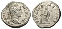 """Ancient Coins - Caracalla Silver Denarius """"VOTA SVSCEPTA X Sacrificing"""" Rome 206AD Scarce"""