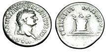 "Ancient Coins - Domitian Caesar Silver Denarius ""PRICEPS IVVENTVTIS Lighted Altar"" Rome RIC 266"