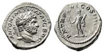 """Ancient Coins - Caracalla AR Denarius """"Hercules With Club & Branch"""" Rome 213AD RIC 206a gVF"""