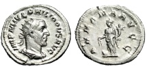 "Ancient Coins - Philip I The Arab Silver Antoninianus ""Annona, Grain"" Rome RIC 28c gEF Lustrous"