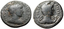 "Ancient Coins - Gordian III AE24 ""Bust of Men Right, Phrygian Cap"" Pisidia, Antioch Rare"