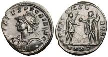 "Ancient Coins - Probus AE Antoninianus ""VIRTVS PROBI Heroic Bust / Jupiter"" RIC 388 Rare"