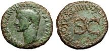 """Ancient Coins - Tiberius AE As Rome 21-22 AD """"Large SC, Senatus Consultum"""" RIC 44 Nice Portrait"""