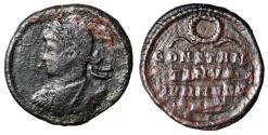 "Ancient Coins - Constantine II Caesar ""Anepigraphic Portrait & Legends, Wreath"" Rome Scarce"