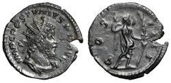 """Ancient Coins - Postumus AE Antoninianus """"IMP X COS V Victory, Long Palm"""" RIC 289 Good VF"""