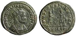 "Ancient Coins - Maximian AE Antoninianus ""CONSERVATOR AVGG Emperor & Hercules"" Cyzicus RIC 580"