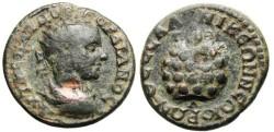 "Ancient Coins - RARE Gordian III AE25 ""Agnostic Urn, PVTHIA around"" BMC 129 Thessalonica"