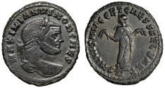 "Ancient Coins - Galerius AE Follis ""Carthage, Holding Fruits"" 299-303 AD RIC 32b gVF"
