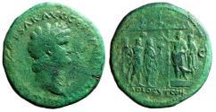"""Ancient Coins - Nero Sestertius """"ADLOCVT COH SC Addressing Soldiers"""" 62-68 AD RIC 429 Rare"""