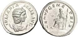 """Ancient Coins - Julia Domna Silver AR Antoninianus """"VENVS GENETRIX Venus Seated"""" RIC 388a nEF"""