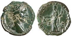 "Ancient Coins - Commodus AE Dupondius ""Libertas Holding Pileus"" Rome 181 AD RIC 135 VF"