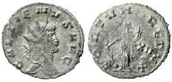 "Ancient Coins - Gallienus Silvered Antoninianus ""FORTVNA REDVX Fortuna, XII Field"" Very Rare"
