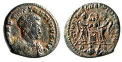 """Ancient Coins - Constantine I The Great """"VLPP Victories, Two Captives Exergue"""" Lyons RIC 79 VF"""