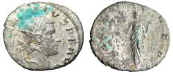 """Ancient Coins - Claudius II Gothicus Silvered Antoninianus """"Fortuna"""" Rome RIC 39 Rare About EF"""