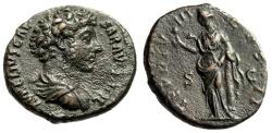 "Ancient Coins - Marcus Aurelius as Caesar AE As ""Salus Feeding Snake"" RIC 1319 Scarce EF"