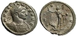 "Ancient Coins - Aurelian Silvered Antoninianus ""ORIENS AVG Sol, Captive"" Serdica RIC 276 gVF"