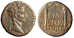 "Ancient Coins - Tiberius AE As ""ROM ET AVG Altar of Lugdunum"" Rome 8-10 AD RIC 238a Good Fine"