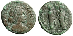 "Ancient Coins - Ionia, Smyrna Pseudo-Autonomous AE24 ""Two Nemeses, Nemesis"" Time of Philip I"