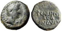 "Ancient Coins - Augustus AE As ""P CARISIVS LEG AVGVSTI"" Spain, Emerita Rare Fine"